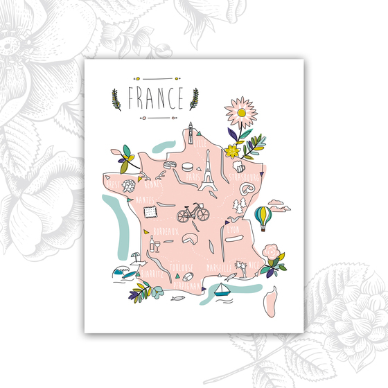 Affiche_Promenade_en_France_MilieO